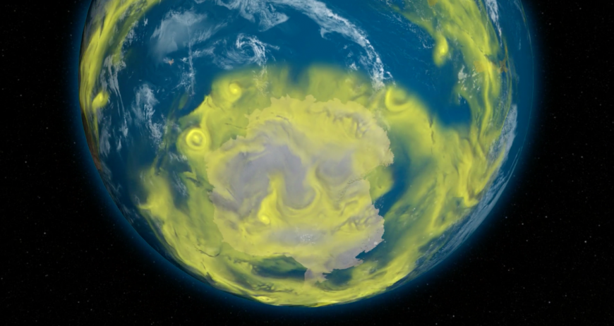 Ozone-depleting chemicals over Antarctica