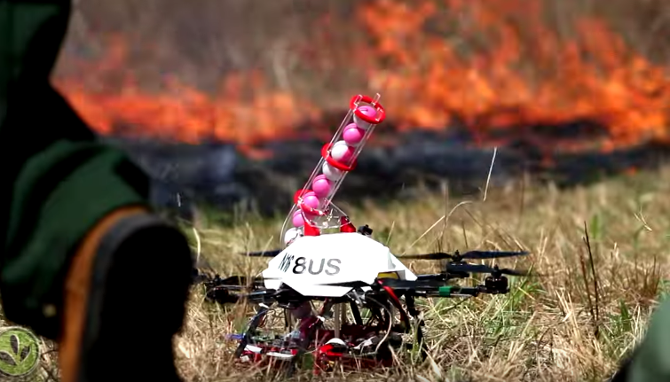 Fire-starting drone