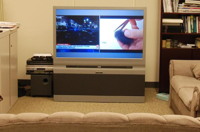 split screen television