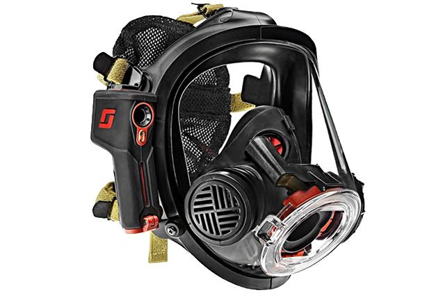 newly developed firefighter mask contains built in thermal imaging
