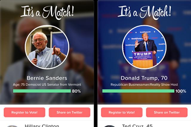 Screenshot of Swipe the Vote