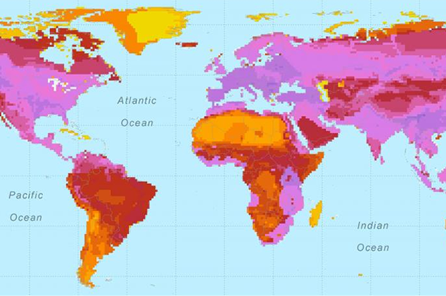 Map of zoonotic diseases