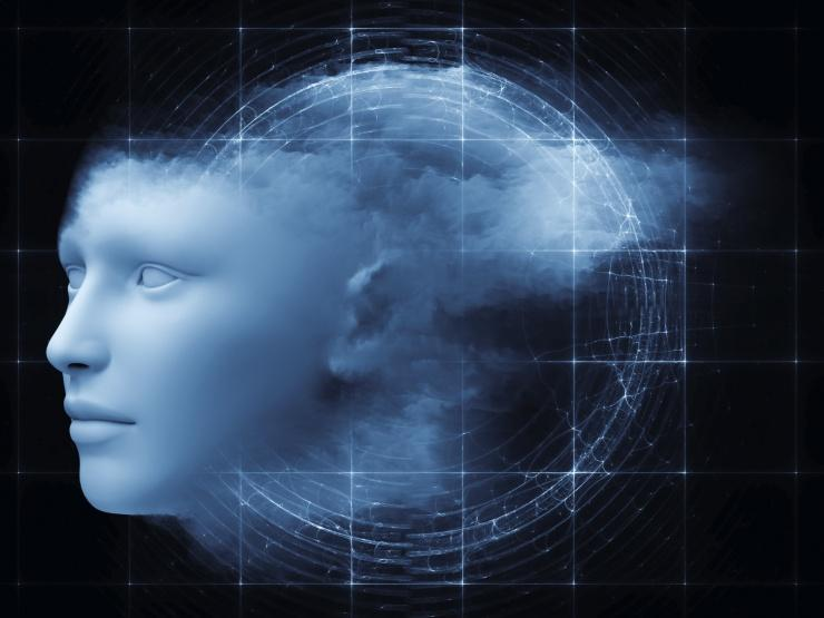 Artist's abstract impression of artificial intelligence