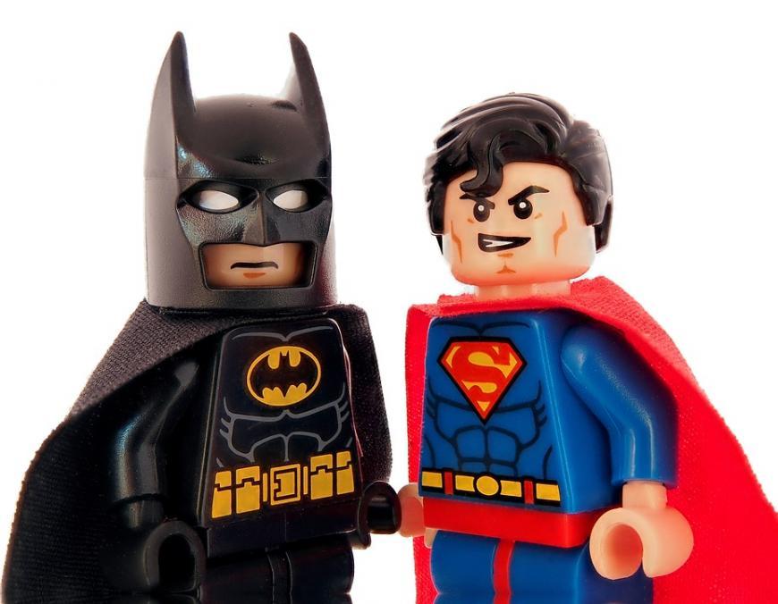 Batman and superman lego