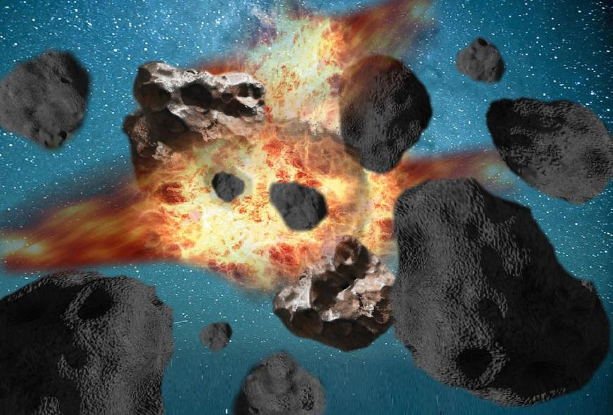 Exploding asteroids