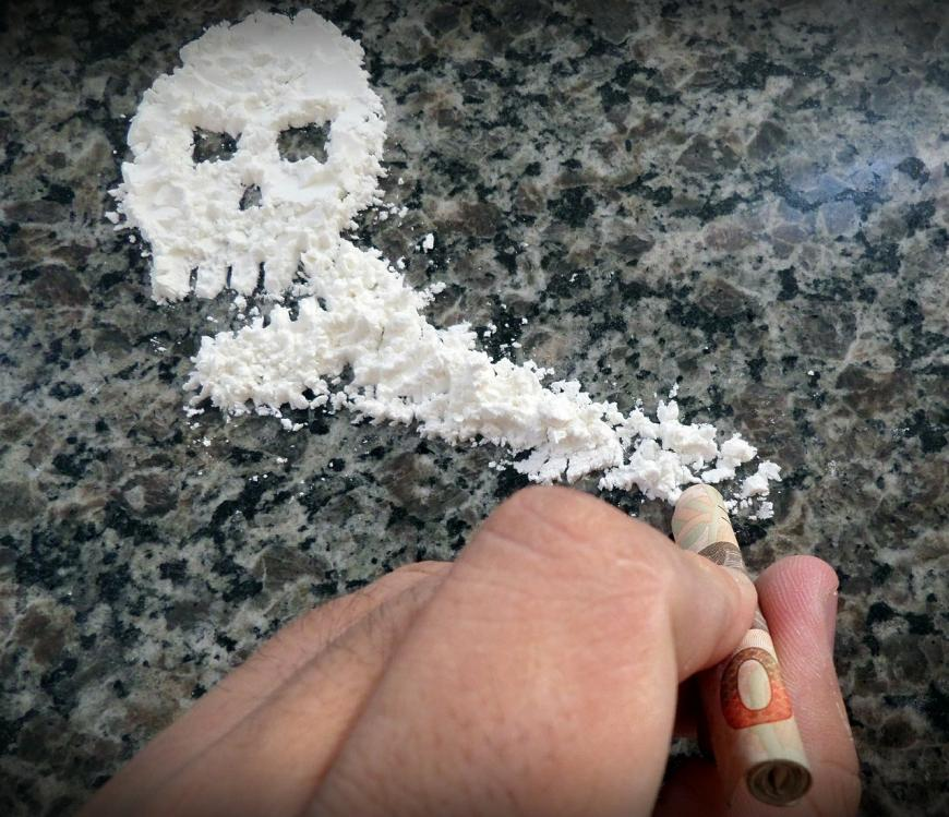 Cocaine, skull of death
