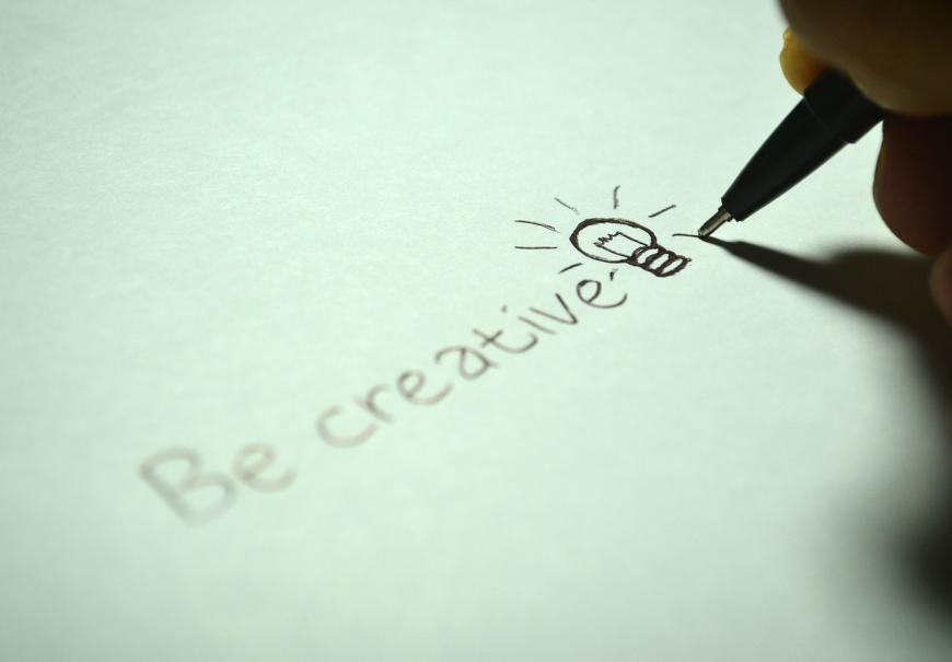Be Creative, light bulb