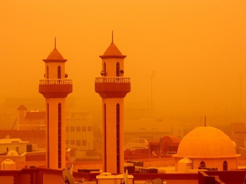 Desert dust storm in Kuwait