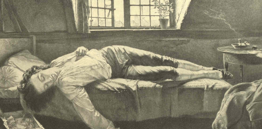 The Death of Chatterton, an oil painting by Henry Wallis