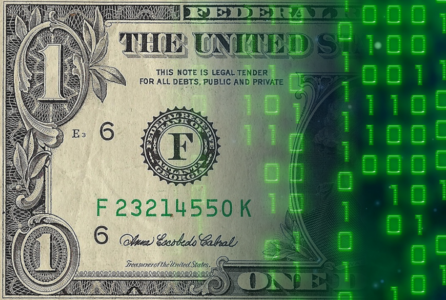 American dollar bill, online payments