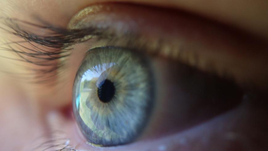 Close-up of a human eye, blue