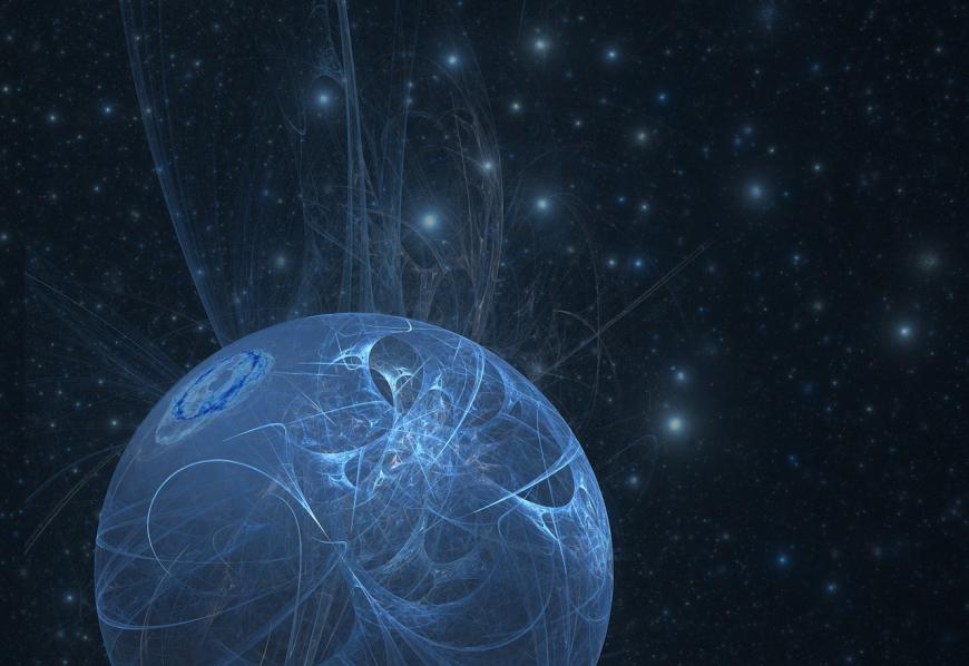 Artist's abstract impression of the cosmos