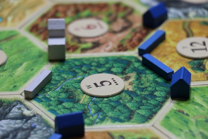 Settler's of Catan game board