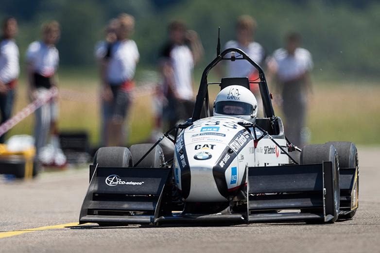 Record-breaking Formula Student electric car