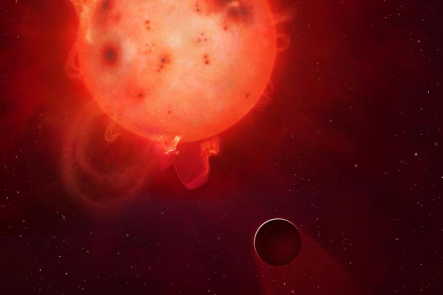artist's depiction of exoplanet Kepler-438b