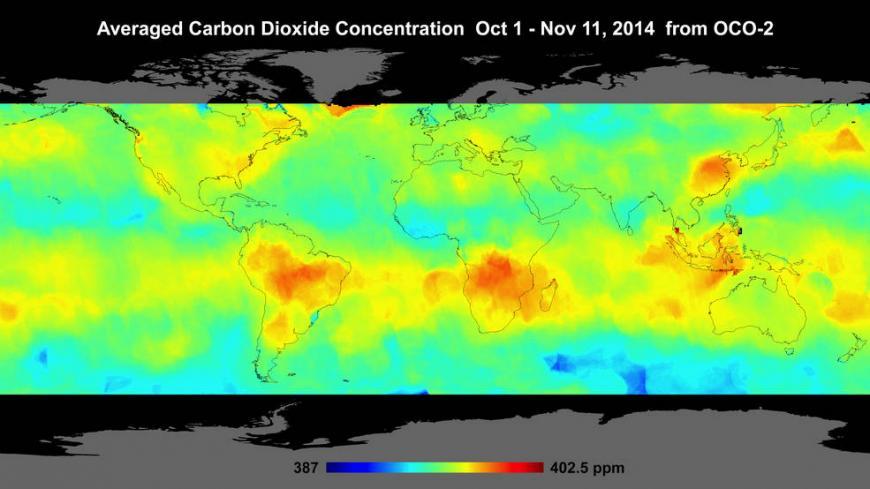 Spaceborne Carbon Counter Map