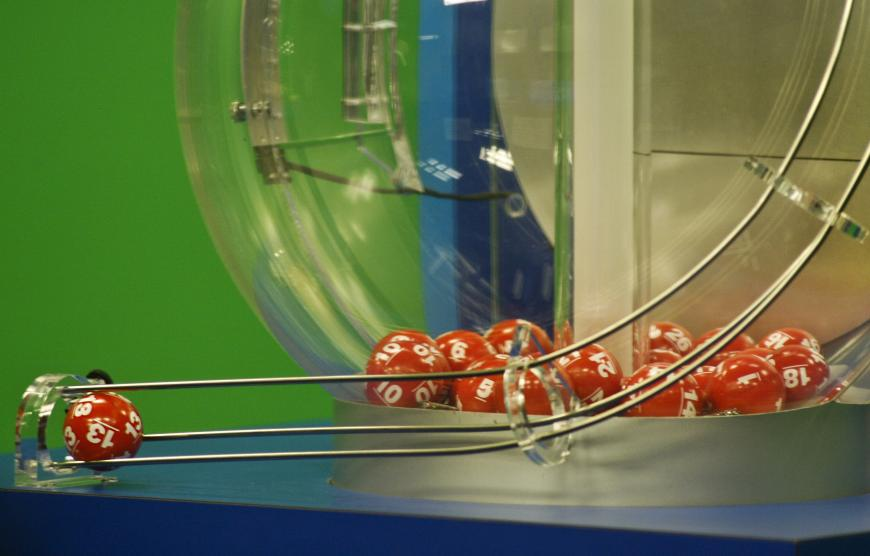 Red balls with numbers on them