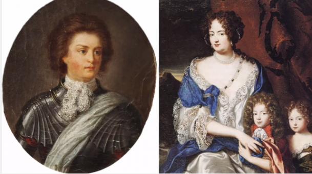 A love story between Philip Königsmarck and Georg Ludwig's wife Sophia Dorothea