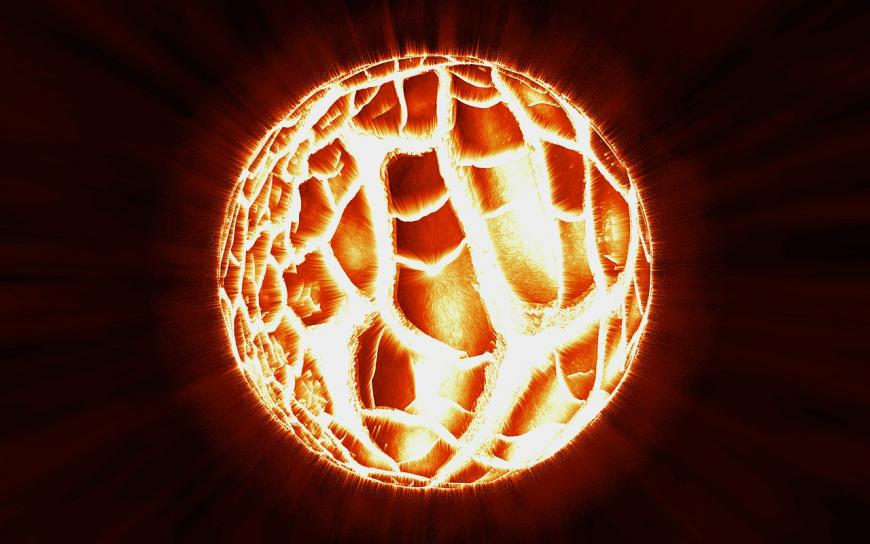 Artist's impression of an exploding star