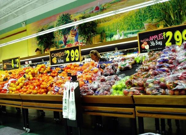 Produce in the grocery store