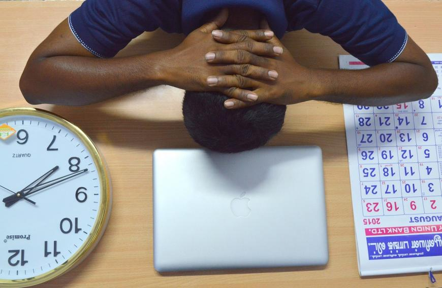 Stress over work, time management