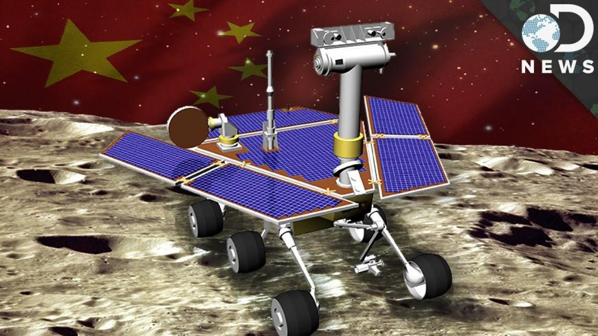 Artist's impression of the Chinese rover Yutu on the surface of the moon