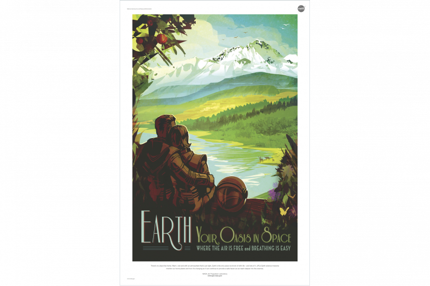 Retro Earth poster