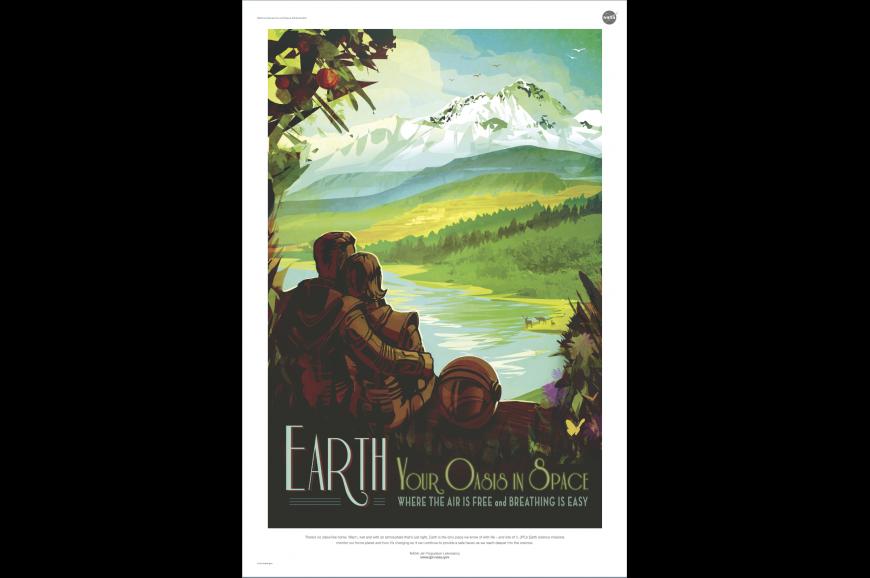 Retro Earth poster