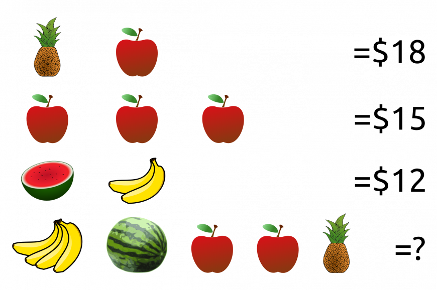 can you solve the fruit puzzle the science explorer