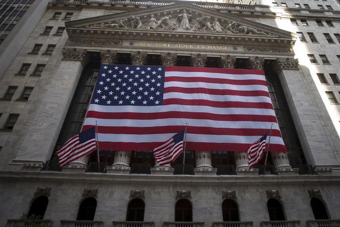 New York Stock Exchange, American flag
