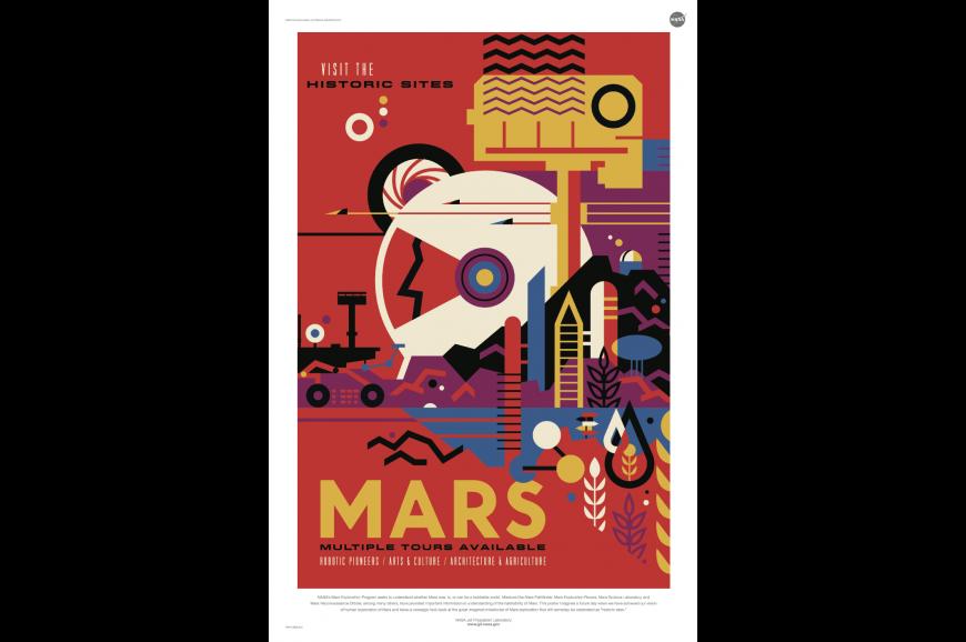 Retro mars poster