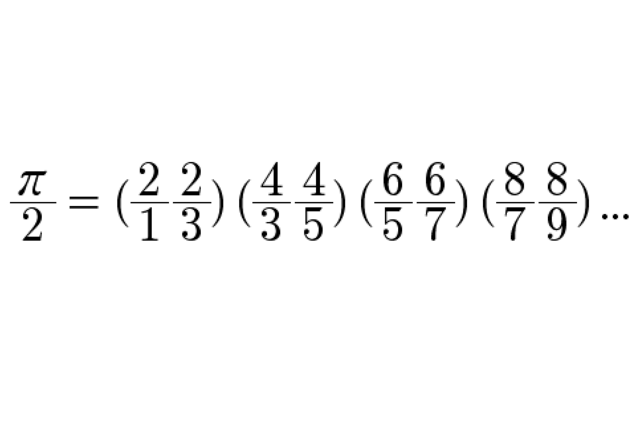 John Wallis, formula for the derivation of pi.