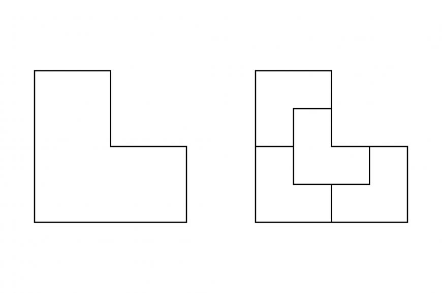 Answer: four smaller el shapes