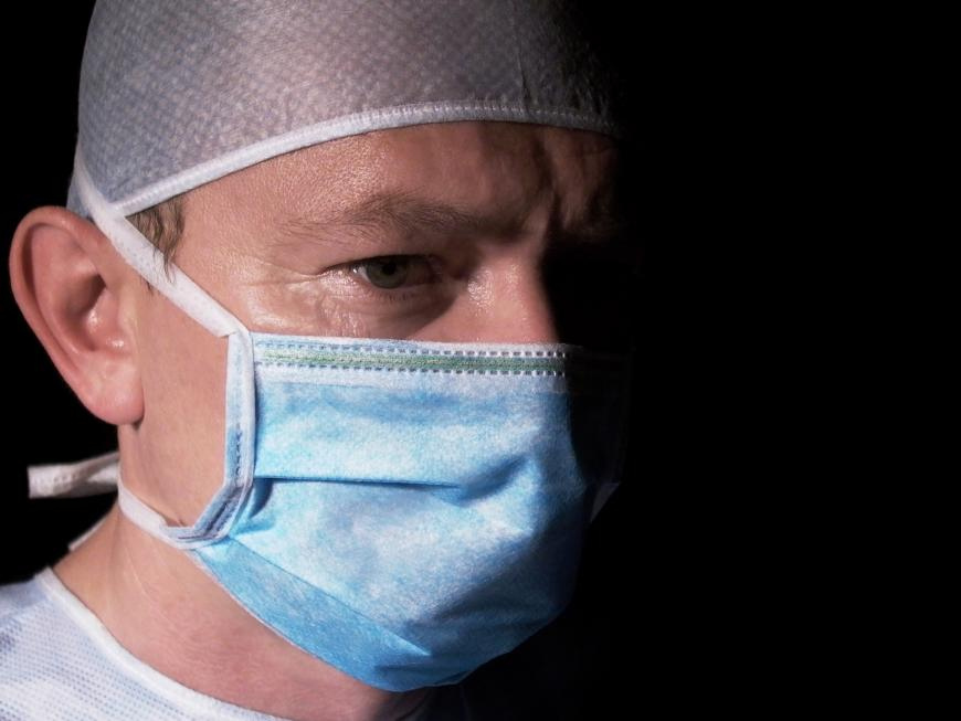 Doctor prepares for surgery