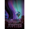 """The Jovian cloudscape boasts the most spectacular light show in the solar system. Jupiter's auroras are hundreds of times more powerful than Earth's, and they form a glowing ring around each pole that's bigger than our home planet. Revolving outside this auroral oval are the glowing, electric """"footprints"""" of Jupiter's three largest moons. NASA's Juno mission will observe Jupiter's auroras from above the polar regions, studying them in a way never possible before."""