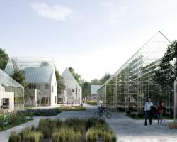 Concept art for eco-village in Almere, Netherlands