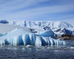 An iceberg in Paradise Harbor, Antarctica