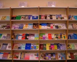 Shelves of academic journals
