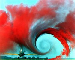 Wingtip vortices qualitatively illustrate wake turbulence