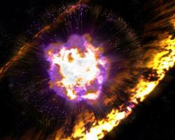 Artist's impression of supernova