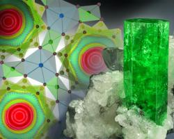 Water undergoes quantum tunneling in beryl (right)
