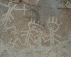 Cave art on Mona island