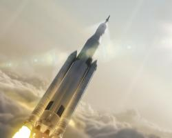 Artist's Concept of Space Launch