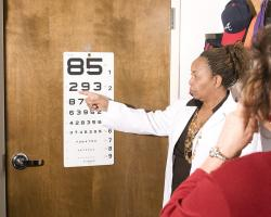 Eye test with the ophthalmologist.
