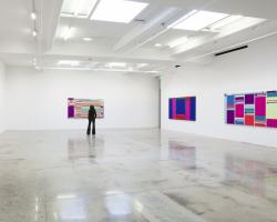 Art gallery displaying abstract images of webpages