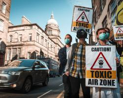 Activists gather to demand clean air as Edinburgh Air Pollution Zone to be expanded