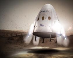 Concept art for SpaceX's Dragon spacecraft