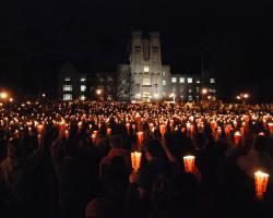 Candlelight vigil outside Virginia Tech