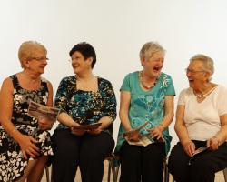 Old women laughing. Elderly. Aged.