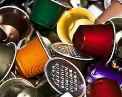 Used Nespresso coffee capsules